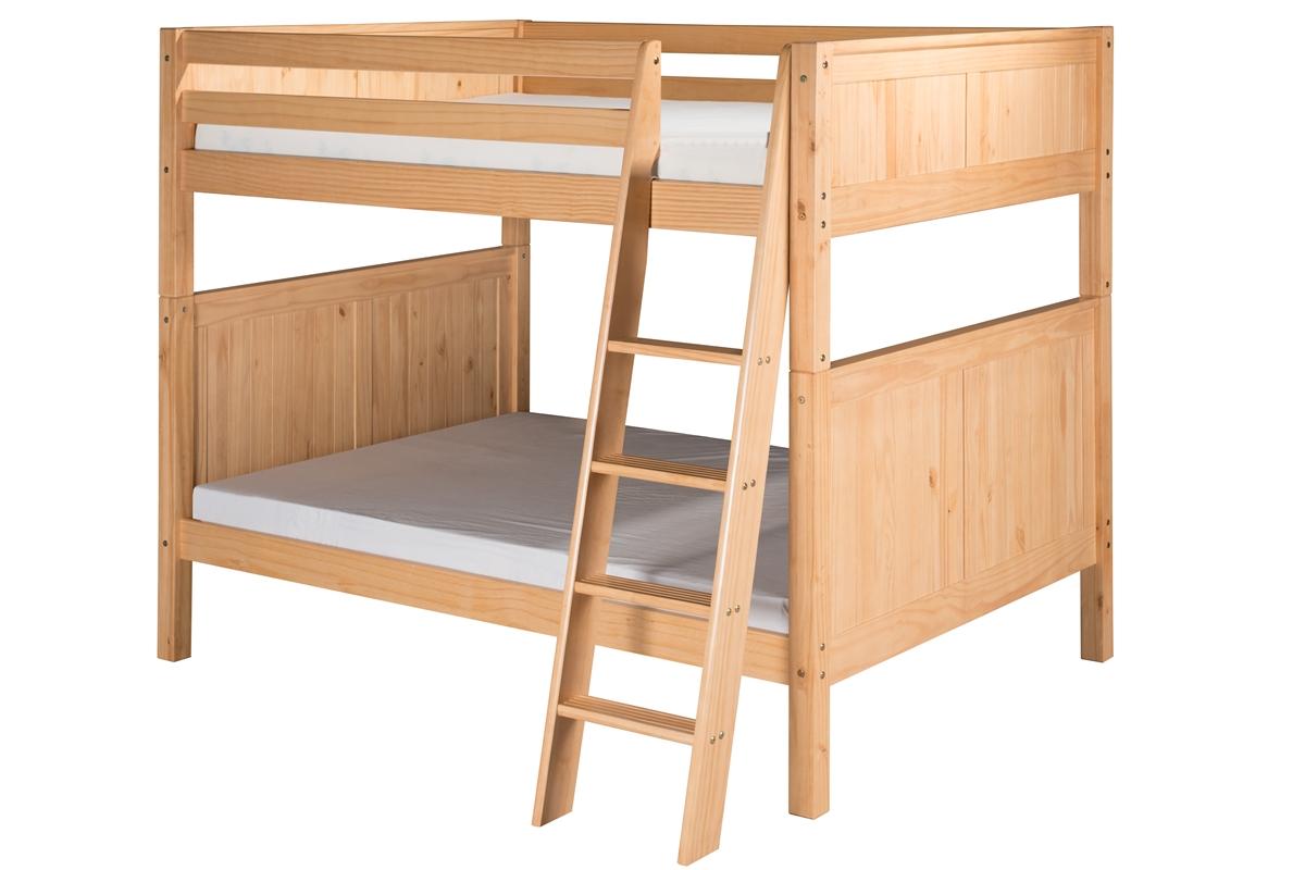 Camaflexi Full over Full Bunk Bed - Panel Headboard - Angle Ladder - Natural Finish at Sears.com