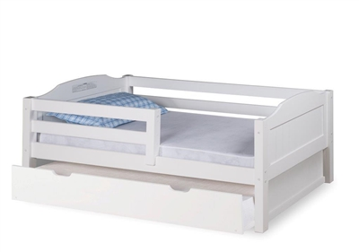 Expanditure Day Bed With Guard Rail With Twin Trundle