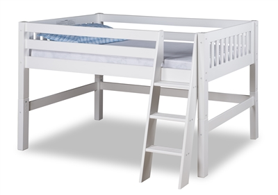 Expanditure Junior Loft Bed Twin Mission Style White