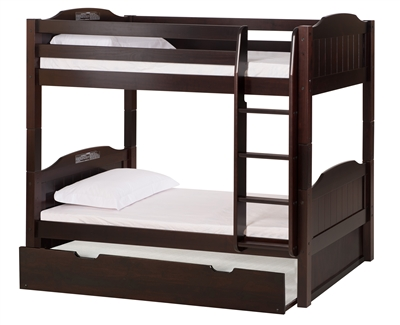 High Bunk Bed With Conversion Kit Amp Twin Trundle Panel