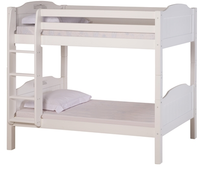 High Bunk Bed With Conversion Kit Panel Style White
