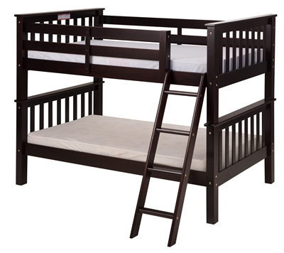 Mission Low Bunk Bed Twin Over Twin Angle Ladder