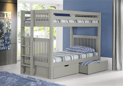 Camaflexi Bunk Bed With Drawers   Mission Headboard