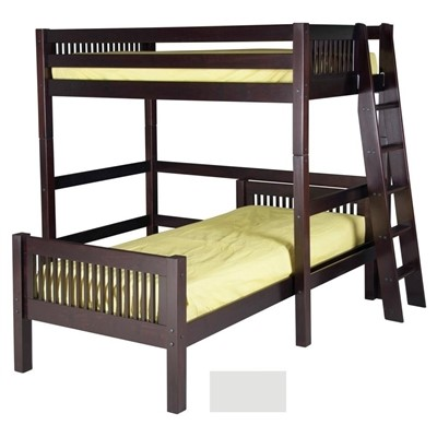 Camaflexi Twin Over Twin Loft Bed   L Shape   Mission Headboard