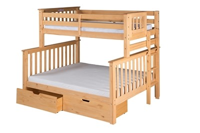 Santa Fe Mission Tall Bunk Bed Twin Over Full End Ladder