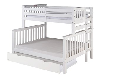 Santa Fe Mission Tall Bunk Bed Twin Over Full   Bed End Ladder