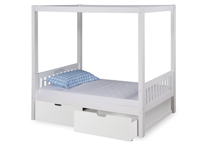 Expanditure Twin Canopy Bed With Drawers Mission Style